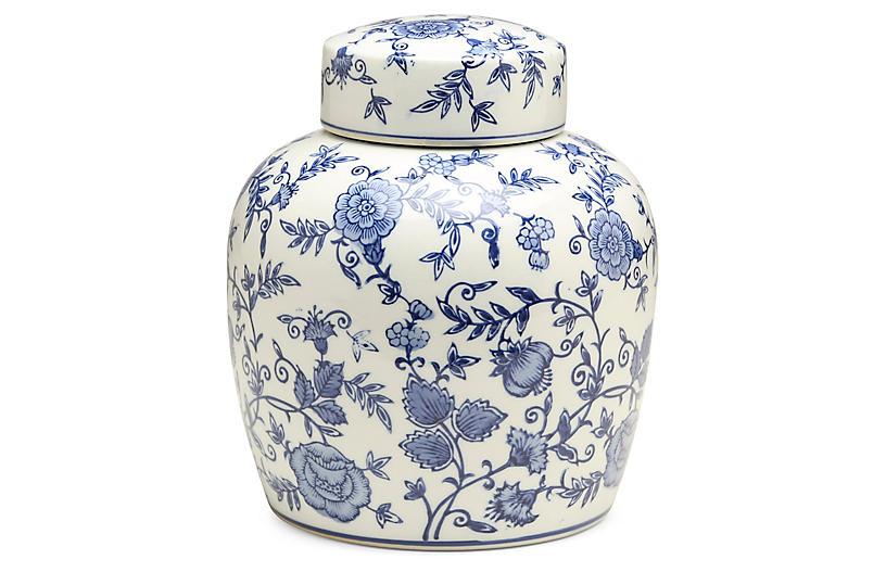 10 Arundel Round Ginger Jar Blue White