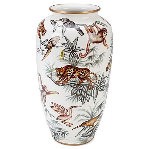 """15"""" Monteverde Vase, Green/Multi"""