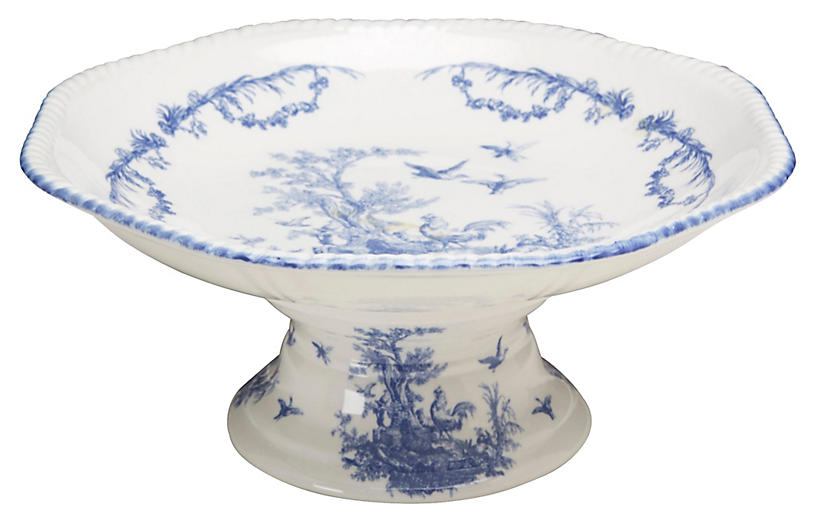 Carlin Compote, Blue/Ivory