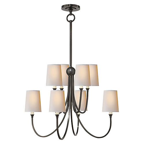Reed Two-Tier Chandelier, Bronze