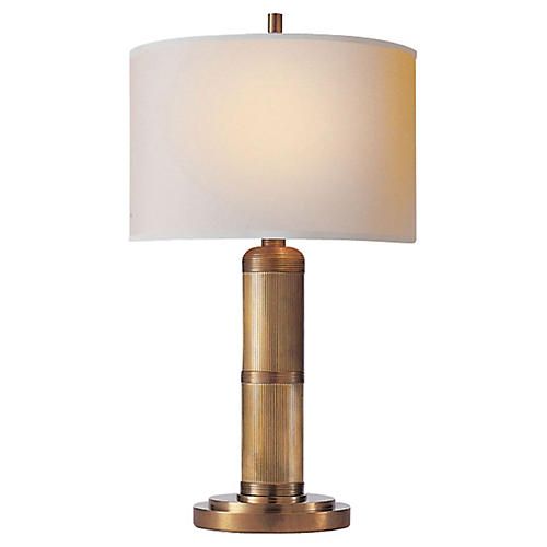 Longacre Small Table Lamp, Brass