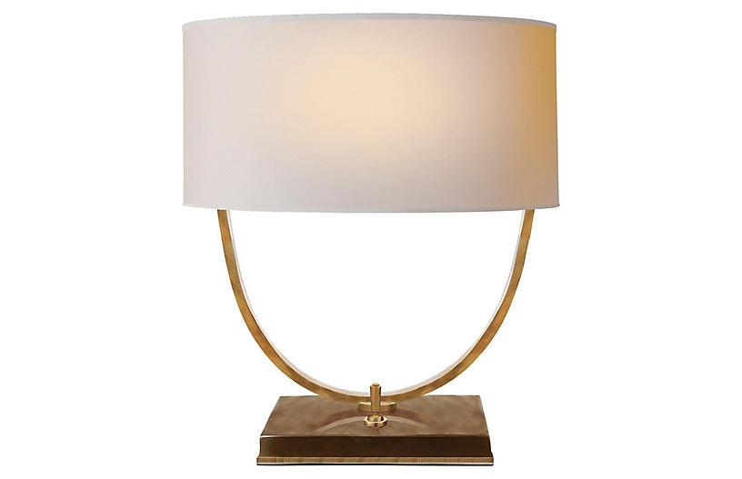 Kenton Desk Lamp, Antiqued Brass