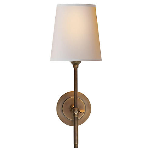 Bryant Sconce, Hand-Rubbed Brass