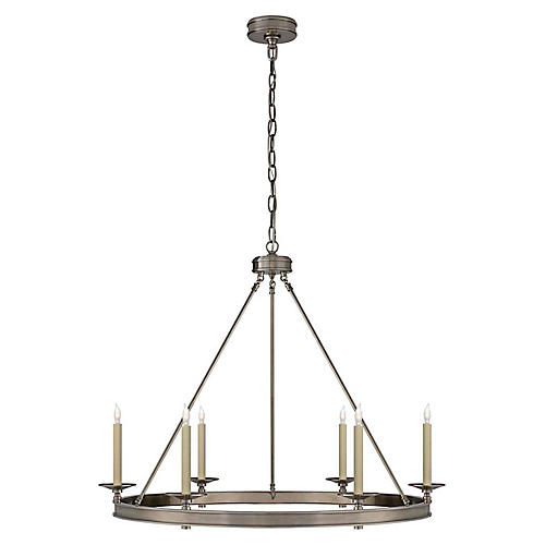 Launceton Ring Chandelier, Antiqued Nickel