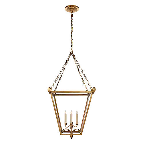 Dumfries Lantern, Burnished Brass