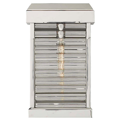 Dunmore Outdoor Sconce, Polished Nickel
