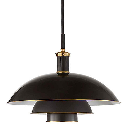 Whitman Large Pendant, Bronze/Brass