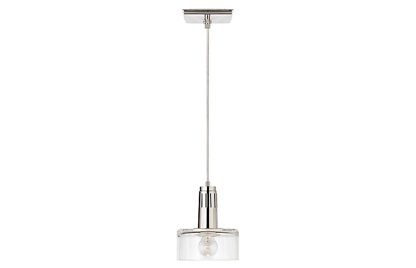Iris Single Pendant, Polished Nickel