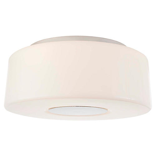 Acme Flush Mount, Polished Nickel