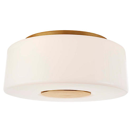 Acme Flush Mount, Soft Brass