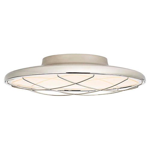 Dot Semi-Flush Mount, Polished Nickel