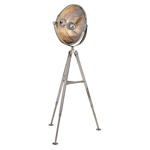 Ames Pivoting Reflector Floor Lamp, Nickel