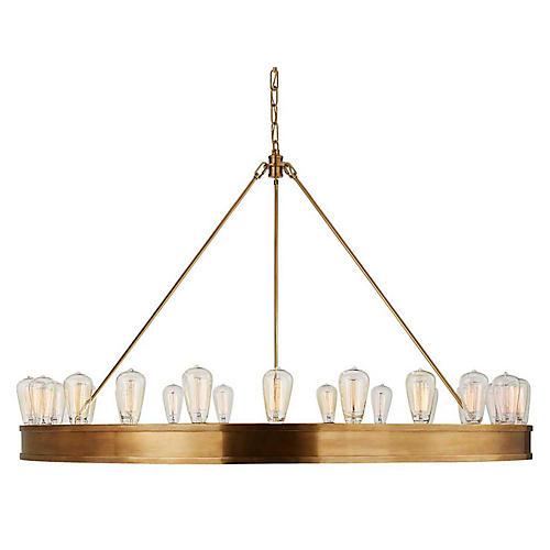 Roark 24-Light Chandelier, Natural Brass