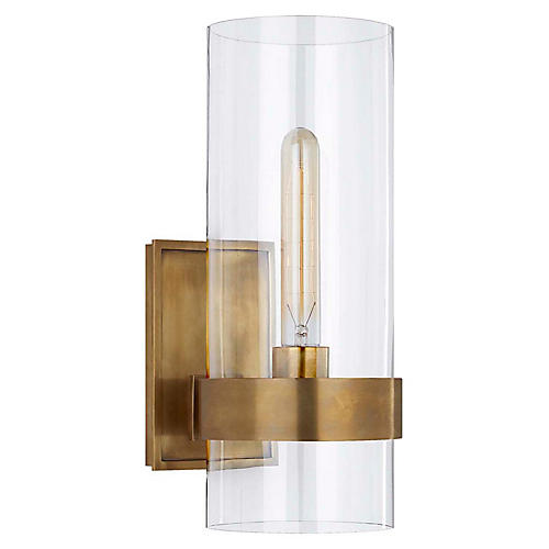 Presidio Small Sconce, Antiqued Brass