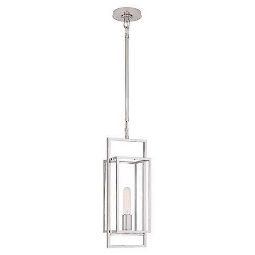 Halle Petite Lantern, Polished Nickel