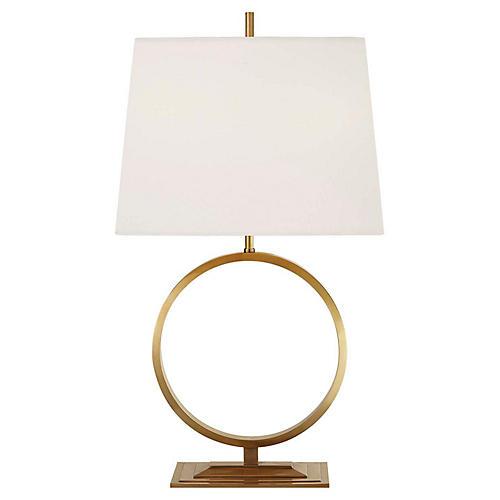 Simone Medium Table Lamp, Antiqued Brass
