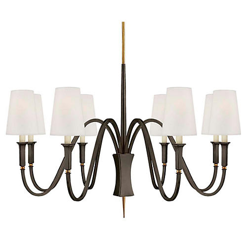 Delphia Medium Chandelier, Bronze/Antiqued Brass
