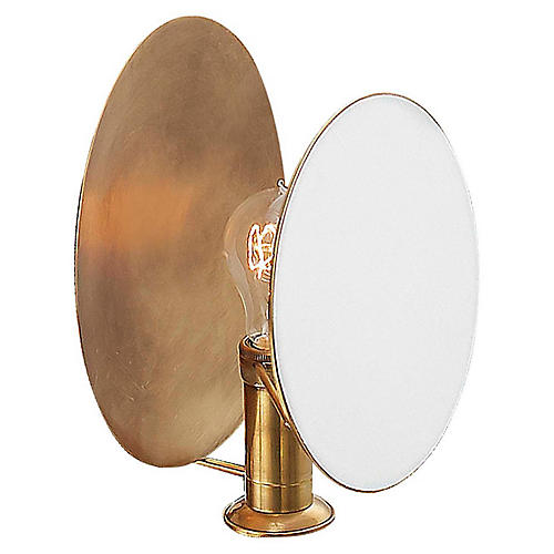 Osiris Reflector Sconce, Antiqued Brass