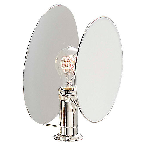 Osiris Reflector Sconce, Polished Nickel
