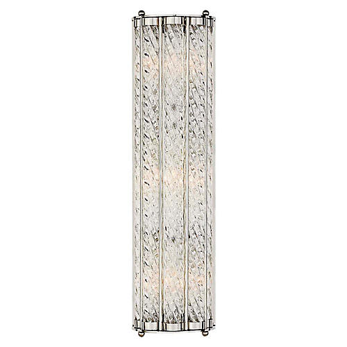Eaton Linear Sconce, Polished Nickel
