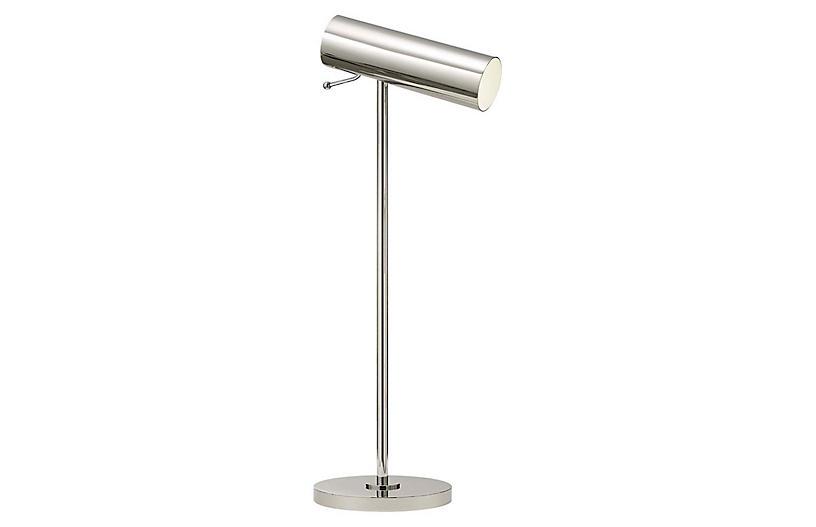 Lancelot Pivoting Desk Lamp, Polished Nickel