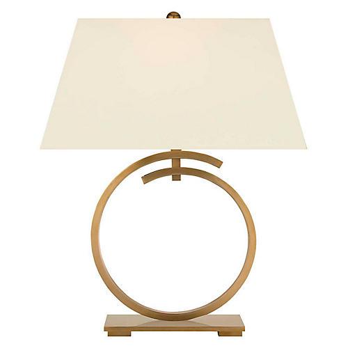Launceton Table Lamp, Burnished Brass