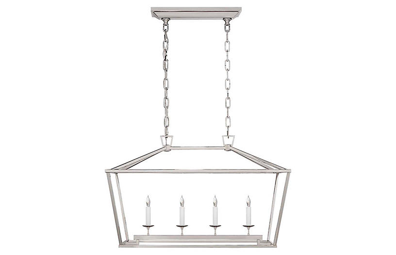 Darlana Linear Lantern, Polished Nickel