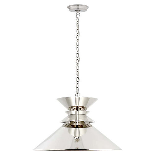 Alborg Large Stacked Pendant, Polished Nickel