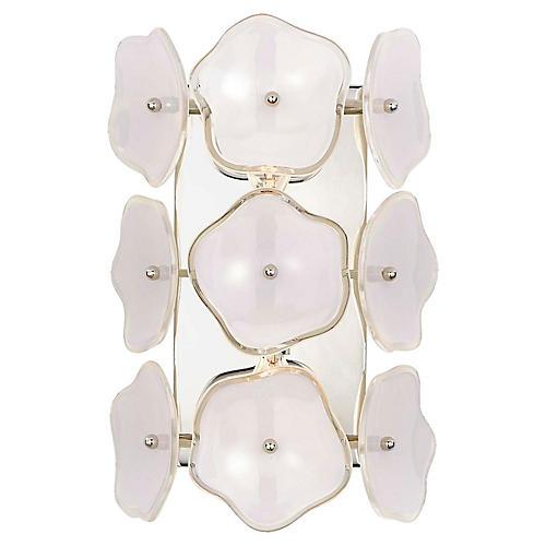 Leighton Sconce, Cream/Nickel