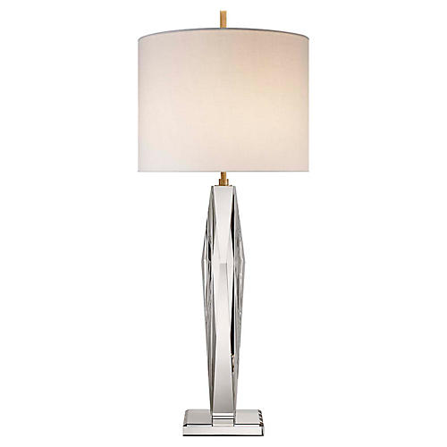 Castle Peak Crystal Table Lamp, Clear