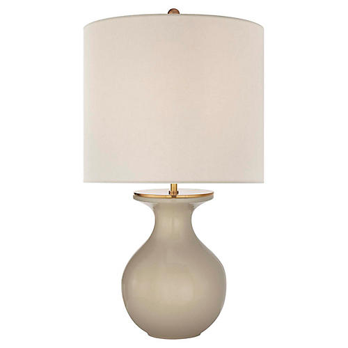 Albie Table Lamp, Dove Gray