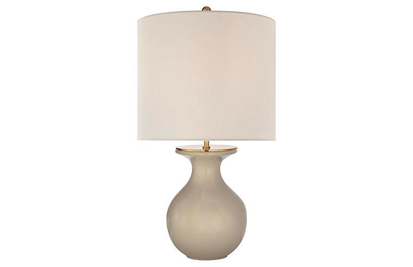 Albie Table Lamp, Dove Gray