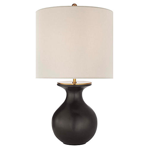 Albie Table Lamp, Metallic Black