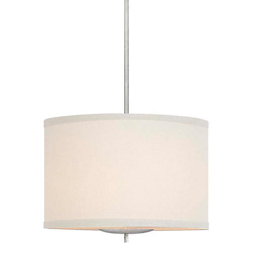 Walker Hanging Shade, Burnished Silver/Cream