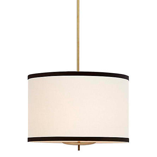 Walker Hanging Shade, Gold/Cream