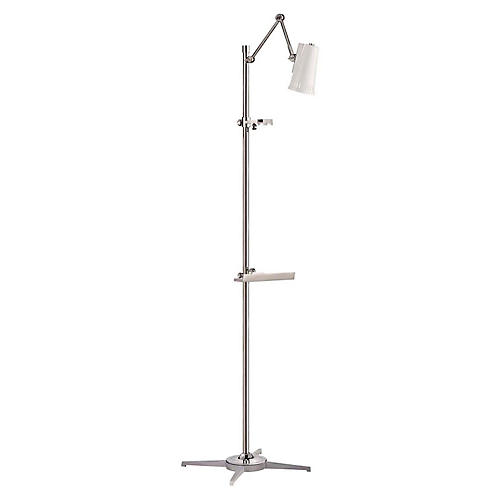 Antonio Articulating Easel Floor Lamp, Nickel