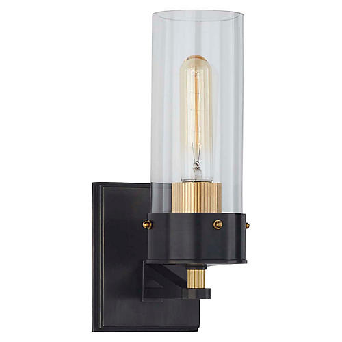 Marais Bath Sconce, Bronze/Brass