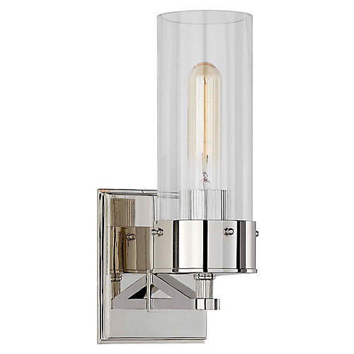 Marais Bath Sconce, Polished Nickel