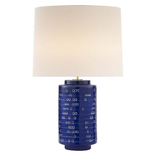 Darina Table Lamp, Pebbled Blue