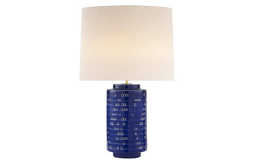 Darina Table Lamp, Pebbled Blue