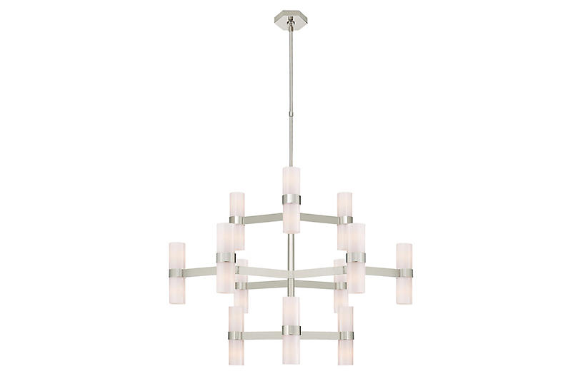 Margita Chandelier, Polished Nickel