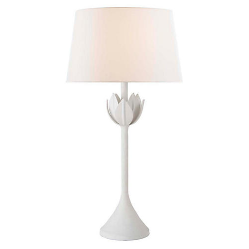 Alberto Table Lamp, Plaster White