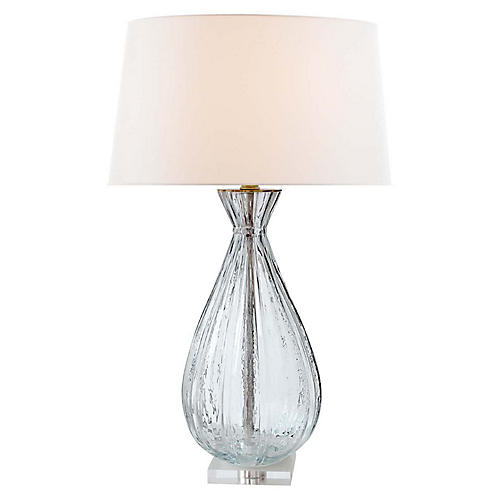 Treviso Table Lamp, Clear Glass