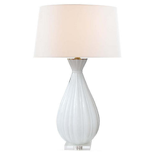 Treviso Table Lamp, Matte White