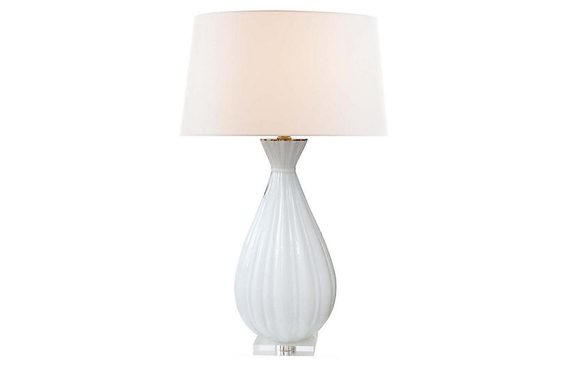 Treviso Table Lamp, Matte White