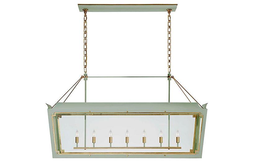 Caddo Lantern, Celadon With Gild