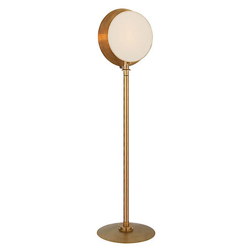 Osiris Floor Lamp, Hand-Rubbed Antiqued Brass