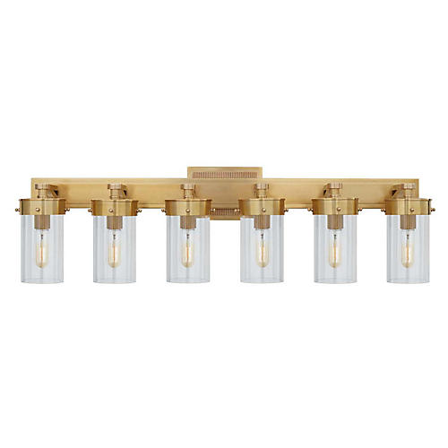 Marais 6-Light Sconce, Hand-Rubbed Antiqued Brass