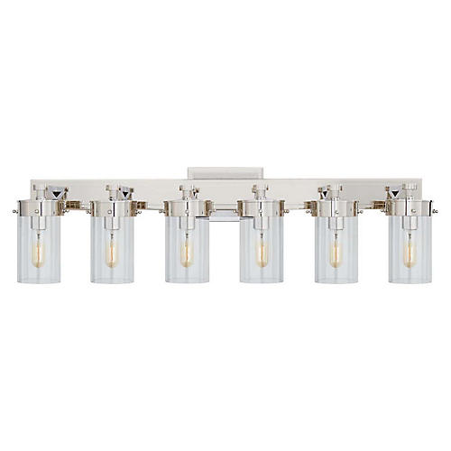 Marais 6-Light Sconce, Polished Nickel