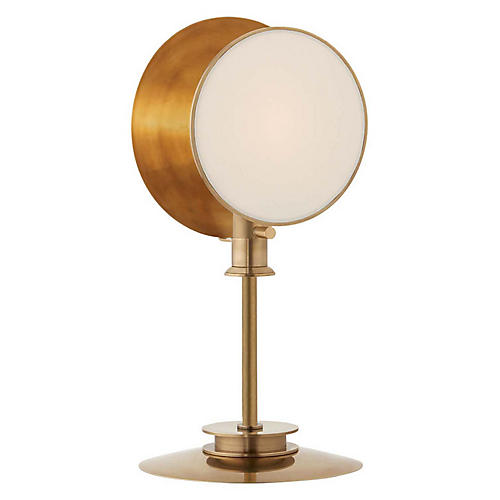 Osiris Table Lamp, Hand-Rubbed Antiqued Brass